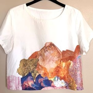 Women's silk cropped top (Size 8)